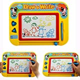 RIZUIEI Magnetic Drawing Board,4 Color Zone Erasable Colorful Magna Doodle Toys Writing Sketching...