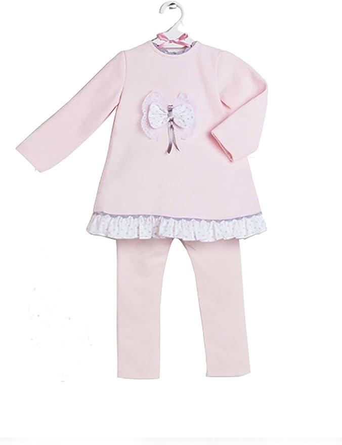 Chándal bebé niña rosa leggin ABRIL _ chandal niña bebe algodón ...