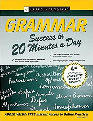 Grammar success in 20 minutes a day learningexpress llc editors grammar success in 20 minutes a day 4th edition fandeluxe Image collections