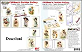 ScrapSMART - Childrens Fashion Gallery Cards & Envelope - software collection - Microsoft Word, Jpeg, PDF files for Mac [Download]