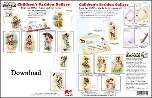 ScrapSMART - Childrens Fashion Gallery Cards & Envelope - software collection - Microsoft Word, Jpeg, PDF files for Mac [Download] by ScrapSMART