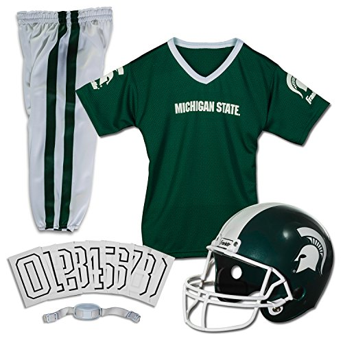 Franklin Sports NCAA Michigan State Spartans Deluxe Youth Team Uniform Set, Medium ()