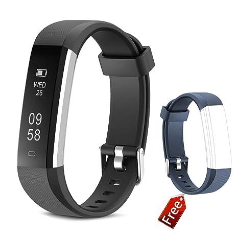 JIUXI Pulsera de Actividad Inteligente Fitness Tracker Impermeable Pulsera Inteligente Reloj con Podómetro Contador de calorías