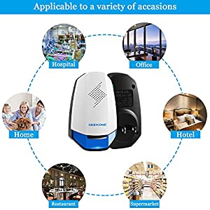 SEEKONE Electronic Ultrasonic Pest Repeller - Pest Control Ultrasonic Pest Pepellent Plug In for Roaches, Spiders, Rats, Mosquitoes, Ants, Snakes, Bats, Mice, Termites, Human & Pet Safe (6 Packs)