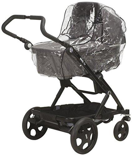 Playshoes Universele regenhoes voor kinderwagen, regenhoes met klittenbandsluiting en elastiek, transparant, één maat