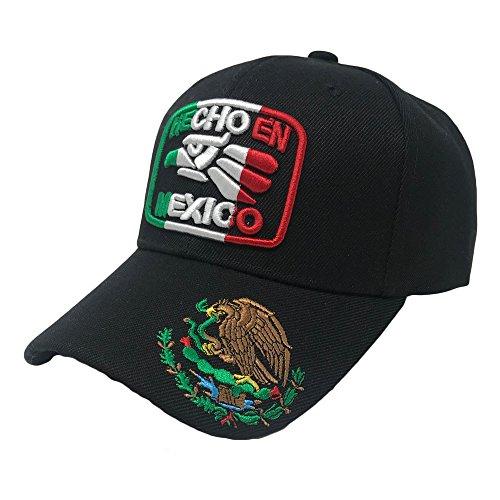 6cb3bd85855be5 GREAT CAP Mexico Constructed Baseball Cap Classic Mexico Flag Color Design  Adjustable Hat Daily Fashionable Futbol Cap - Hecho EN Mexico Eagle Black