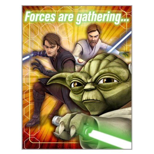 Star Wars: The Clone Wars Opposing Forces Invitations 8 Pack ()