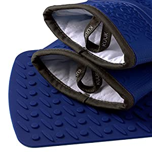 Kuuk Silicone Oven Mitts with Non-slip Grip (1 Pair)