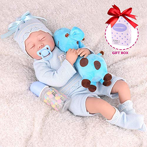 CHAREX Realistic Reborn Baby Dolls for Girls, Lifelike Silicone Weighted Baby Dolls, 22 Inch Handmade Newborn Baby Dolls, Gifts/Toys for Kids Age 3+