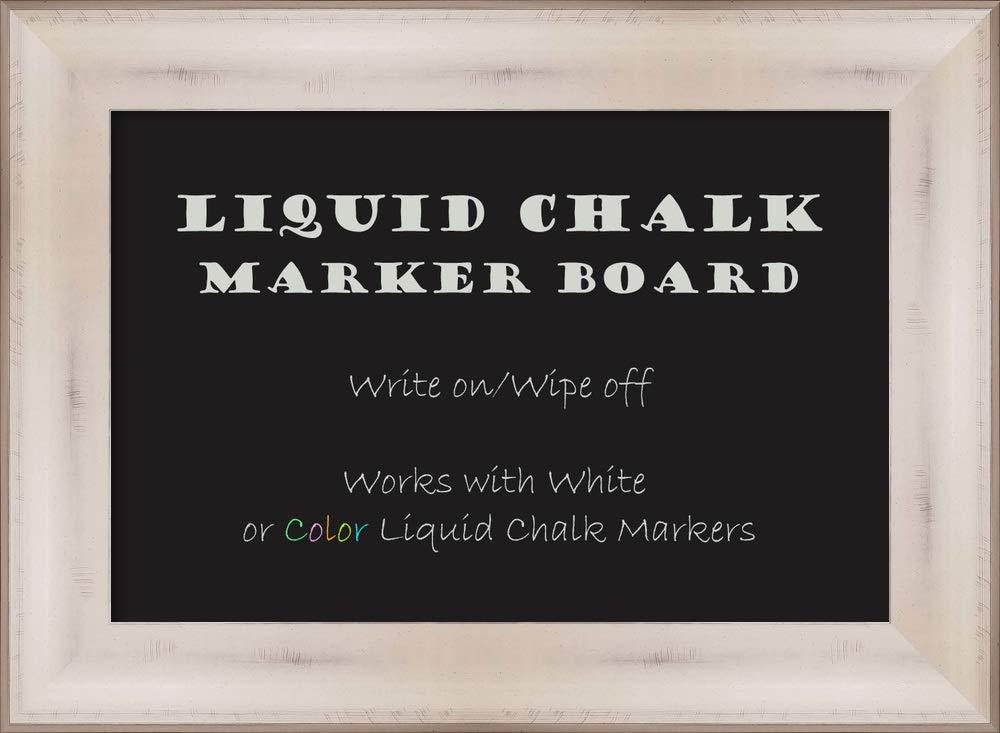 Framed Liquid Chalk Marker Board   Modern Framed Home Office Board   Allure White Framed Organization Board   22.50 x 16.50'' by Amanti Art
