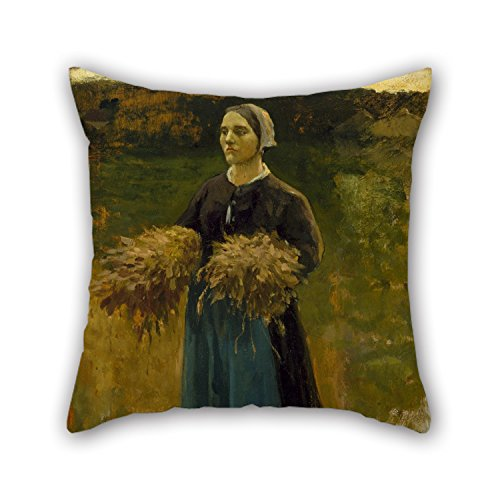 Artistdecor Cushion Cases Of Oil Painting Jules Breton - The Gleaner,for Gril Friend,seat,husband,bf,play Room,bedding 18 X 18 Inches / 45 By 45 Cm(double Sides) ()