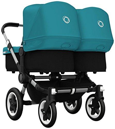 Bugaboo Donkey Twin Stroller Bundle - Petrol Blue - Aluminum