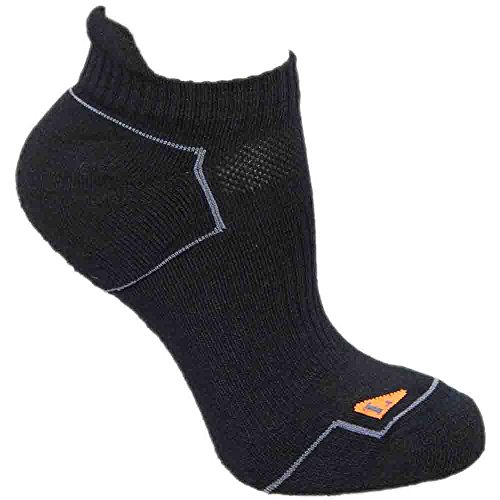 Single Tab Sock, Medium, Black/Shocking Orange (Asics Wool Socks)