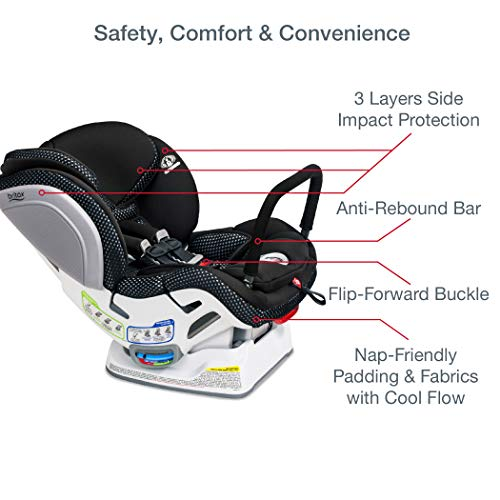 Britax Advocate ClickTight Convertible Car Seat   3 Layer Impact Protection - Rear & Forward Facing - 5 to 65 Pounds + Cool Flow Ventilating Fabric, Cool Flow Teal