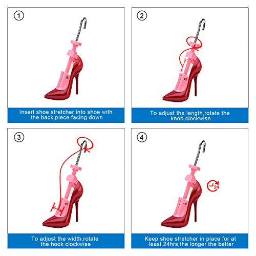 e51615abe4 KevenAnna Pair of Women High Heel Shoe Stretcher Professional 2-way  Adjustable Shoe Trees For