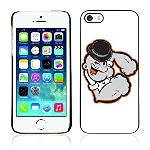 ARTCASES Collections? Black Hard Back Case for Apple iPhone 5 & 5S ( Cool Popeye Illustration )