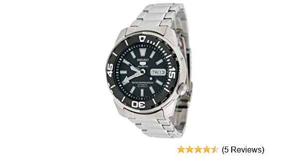 Amazon.com: Seiko SNZE97 Mens Sports All Stainless Steel Automatic Watch with Black Dial: Watches