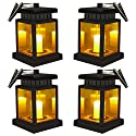 Handing Solar Umbrella Lanterns - Sunklly Outdoor Waterproof LED Candle Lights Decorated in Garden,Patio ( Yellow Light, Pack of 4 )