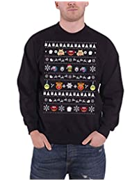 The Muppets Christmas Jumper Sweatshirt Faces New Official Mens Black