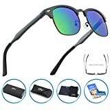 CGID GD58 Al-Mg Alloy Metal Frame Polarized Sunglasses UV400,Sun Glasses with Metal Rivets