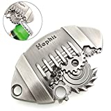 Hephis Bottle Opener Key chain,Football Keychains.Steampunk.
