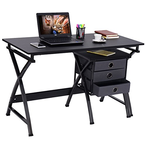 New MTN-G Computer Desk PC Laptop Writing Table Home Office Furniture w/ File Cabinet by MTN Gearsmith