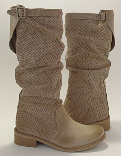 watch 9f8ad f5c5f gfz shoes Tribe-Made in Italy Damen Leder SommerStiefel ...