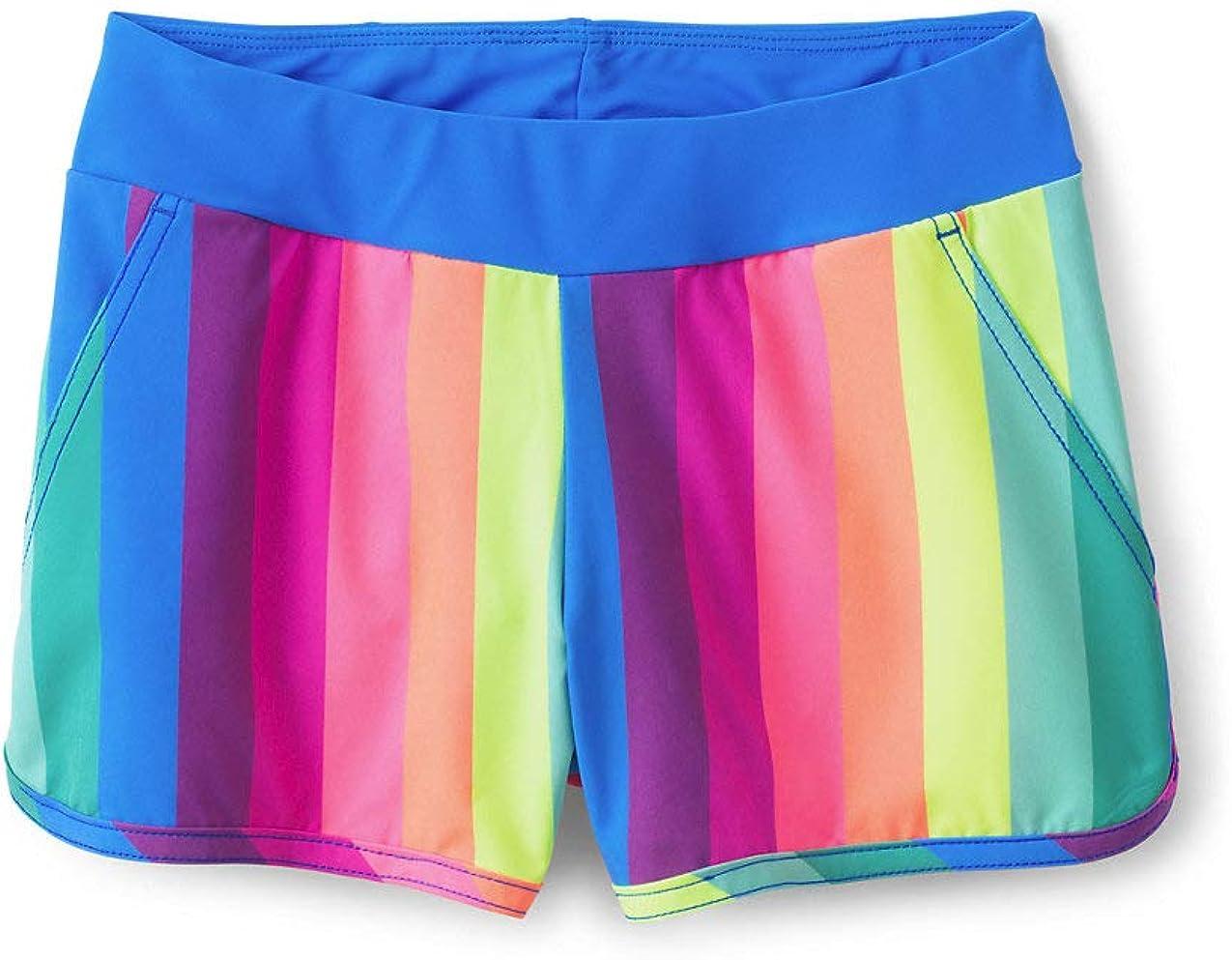 Lands End Girls Comfort Waist Stretch Swim Shorts