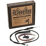 Ape Hanger Cable//Brake Kit B30-1035 Burly Brand Black 16/&Prime