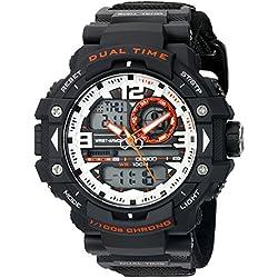 Wrist Armor Men's 'Velcro Strap' Quartz Black Casual Watch (Model: 37600017)