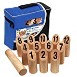 DMI Sports Kubb Viking Bowling Game with Tailgate Bag