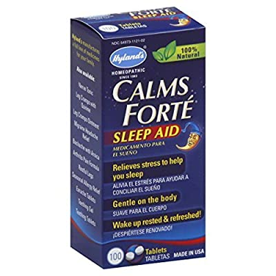 Hylands Homeopathic Calms Forte Sleep Aid Tablets, 100 Count