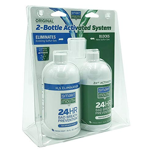 SmartMouth Original 2-Bottle Activated Mouthwash System with Pumps -32oz