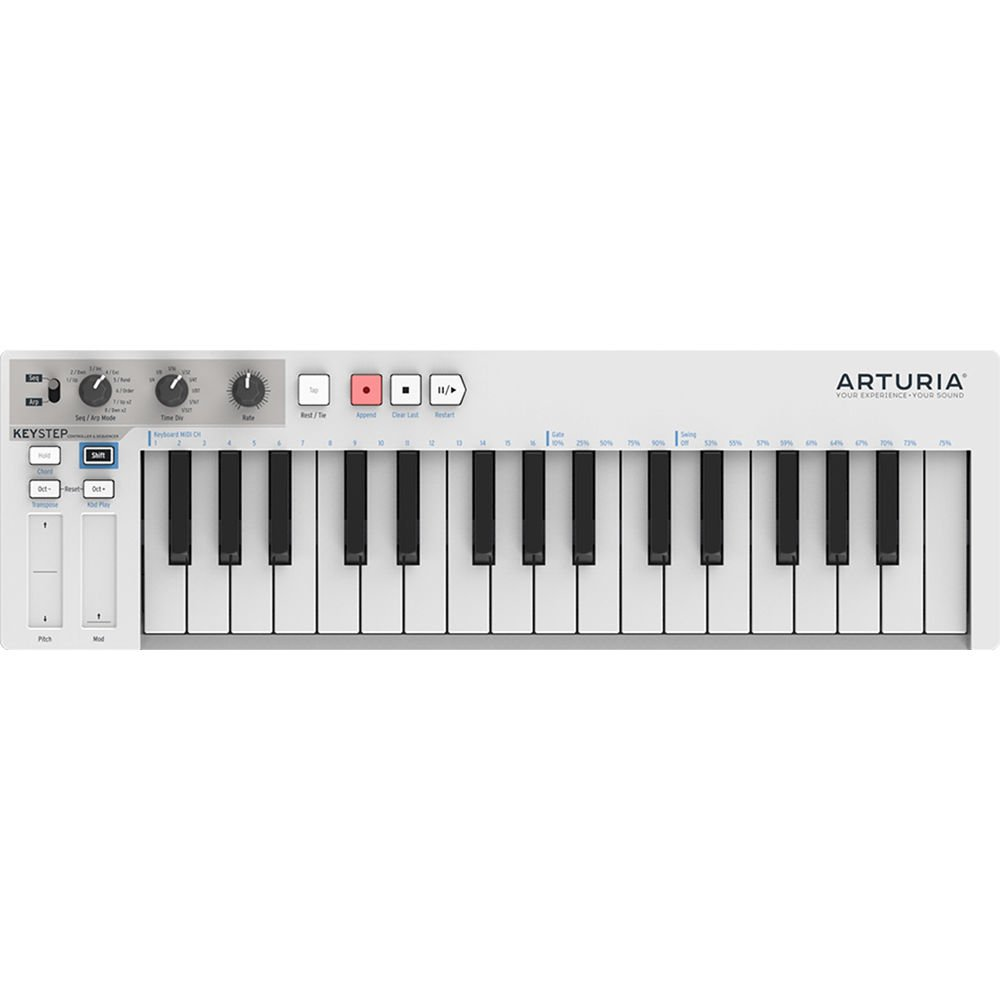 KeyStep Portable Keyboard and Step Sequencer by Arturia
