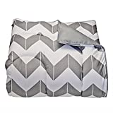 Campus Linens Gray Chevron Twin XL Comforter for College Dorm Bedding
