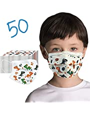 50 Pack Kids Disposable Face Mask - Ships From Canada - Cute Design Kids Masks Disposable Fabric Girls