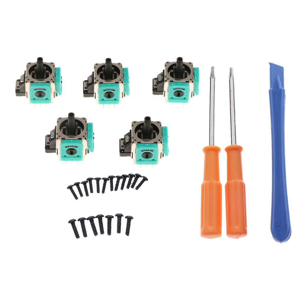 perfk 5 Unidades Analog Stick 3D Rocker Joystick Destornilladores Herramienta Kit T8 T6
