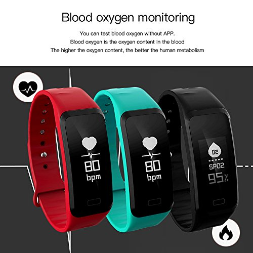 Smart Fitness Tracker Wristband, CoolFoxx Bluetooth 0.96In ...