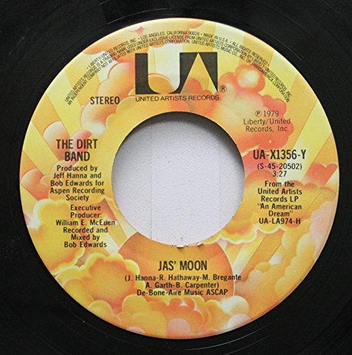 (THE DIRT BAND 45 RPM JAS' MOON / MAKE A LITTLE MAGIC)