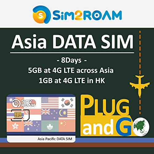 Asia Pacific Prepaid 4G/LTE Data SIM Card 8 Days for for sale  Delivered anywhere in Canada