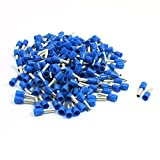 Aexit 190Pcs Blue E4009 Plastic Sleeve Pre-Insulate Terminals for 12AWG Wire