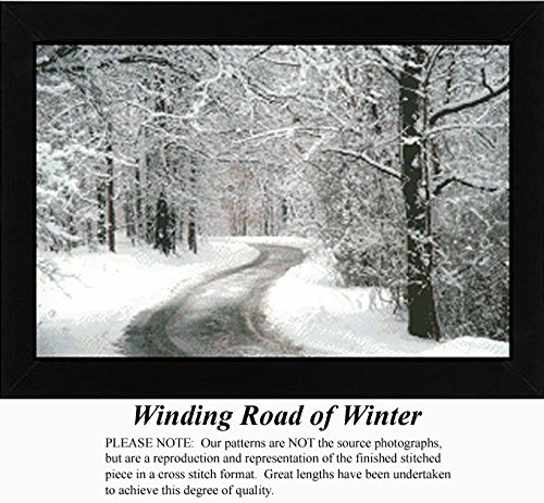 Winding Road of Winter, Landscapes Counted Cross Stitch Pattern (Pattern Only, You Provide the Floss and Fabric) Winter Cross Stitch Pattern