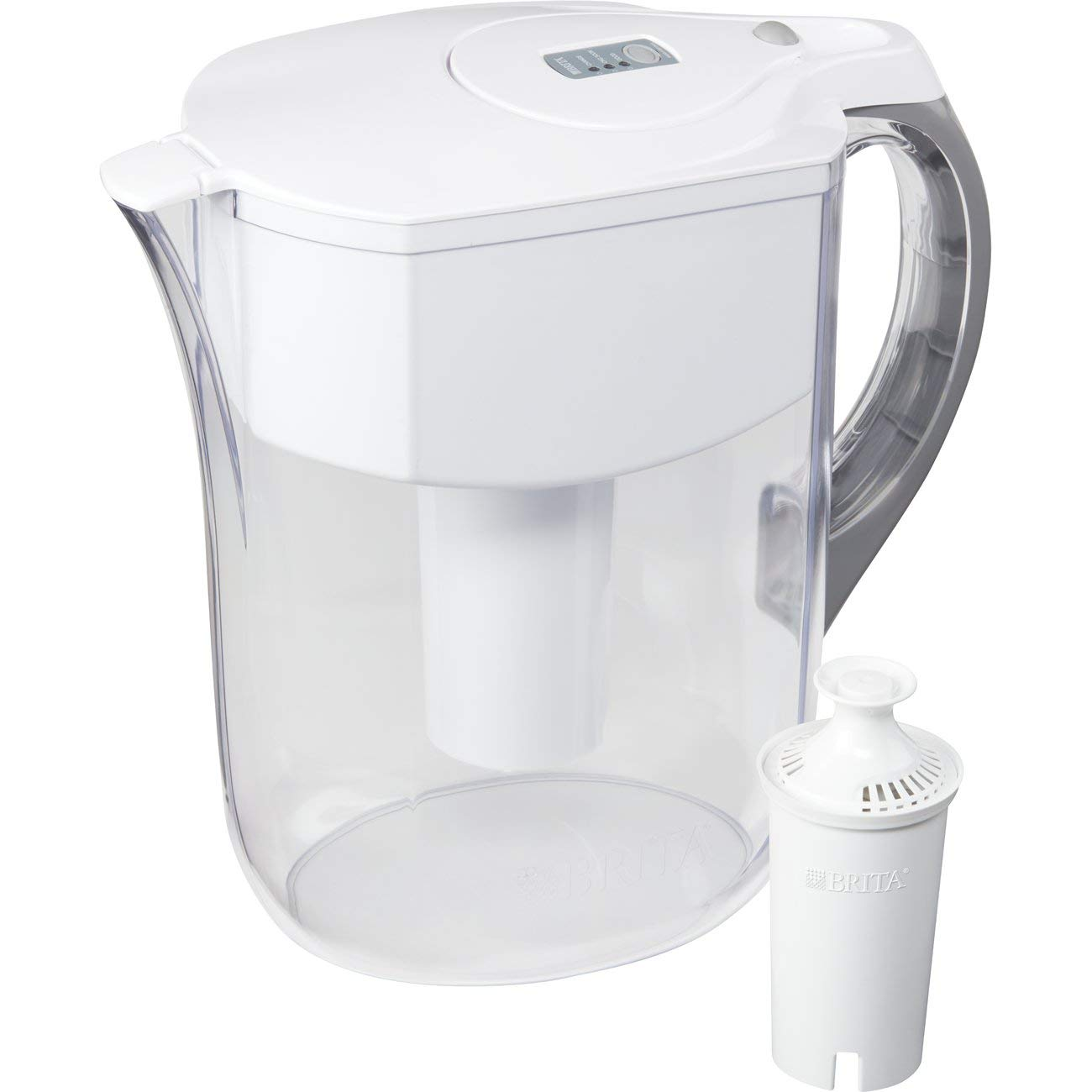 Brita Large 10 Cup Water Filter Pitcher with 1 Standard Filter, BPA Free – Grand, Multiple Colors - 35939