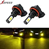yellow h11 fog lights - XSPEED Extremely Bright 3200 Lumens Newest Version 3570 CSP-Chips LED Fog Light Bulbs JDM Gold Yellow use for Fog Lights (H11/H8/H16)