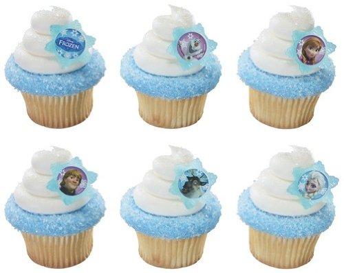 24 ~ Disney Frozen Adventure Friends Rings ~ Designer Cake/Cupcake Topper ~ New!!!!!