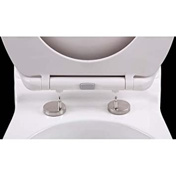 Peachy Topseat Duronova Round Toilet Seat W Slow Close Chromed Pabps2019 Chair Design Images Pabps2019Com
