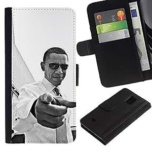 All Phone Most Case / Oferta Especial Cáscara Funda de cuero Monedero Cubierta de proteccion Caso / Wallet Case for Samsung Galaxy S5 Mini, SM-G800 // America Patriotism You Black