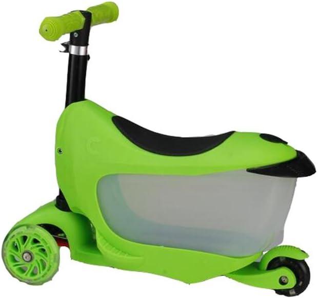 HJXJXJX Dos Colores Opcional Tres-en-una Maleta niños Scooter