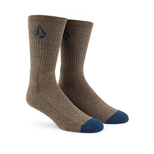 Volcom Men's Full Stone Heather Sock, Beige, One Size