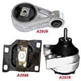 K171-03 : Fits 2000-2004 FORD FOCUS 2.0L SOHC Engine & Trans Mount Set Except SVT Model 3 PCS : 2000 2001 2002 2003 2004 - A2938 A2939 A2986